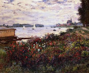 Claude Oscar Monet : Riverbank at Argenteuil