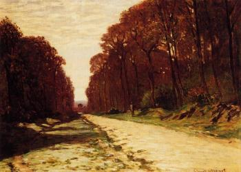 Claude Oscar Monet : Road in a Forest