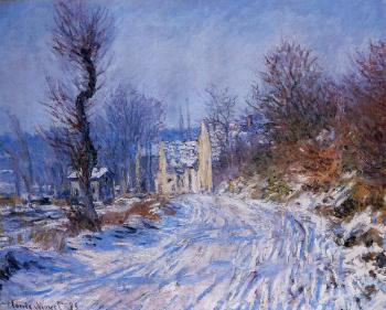 Claude Oscar Monet : Road to Giverny in Winter