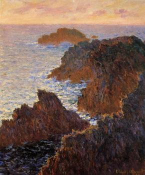 Claude Oscar Monet : Rocks at Belle-Ile, Port-Domois