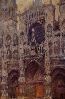 Claude Oscar Monet : Rouen Cathedral, Grey Weather