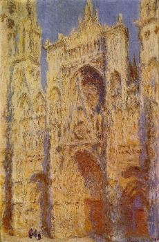 Claude Oscar Monet : Rouen Cathedral, Sunlight Effect