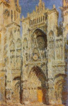 Claude Oscar Monet : Rouen Cathedral, Sunlight Effect II