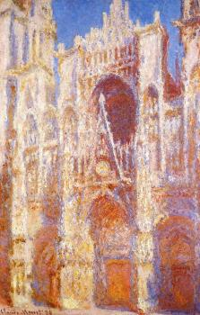 Claude Oscar Monet : Rouen Cathedral, Sunlight Effect III