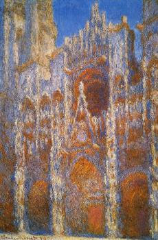 Claude Oscar Monet : Rouen Cathedral, Sunlight Effect IV
