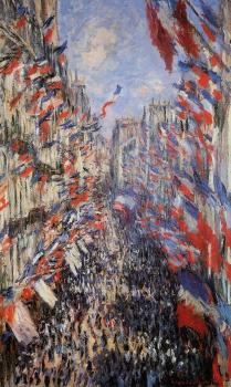 Claude Oscar Monet : Rue Montorgeuil 30th of June 1878