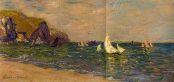 Claude Oscar Monet : Sailboats at Sea, Pourville