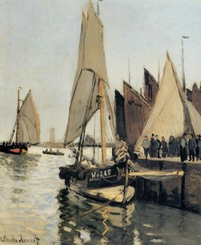 Claude Oscar Monet : Sailing Boats at Honfleur
