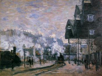 Claude Oscar Monet : Saint-Lazare Station, the Western Region Goods Sheds