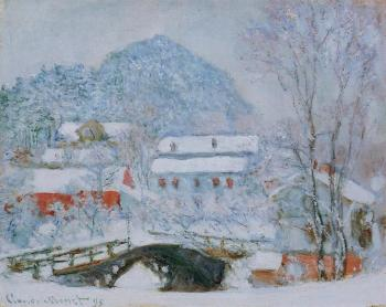 Claude Oscar Monet : Sandviken Village in the Snow