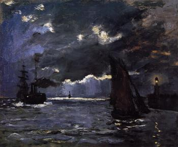 Claude Oscar Monet : Seascape, Night Effect