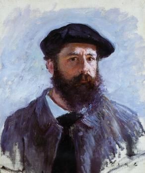 Claude Oscar Monet : Self Portrait with a Beret