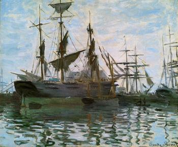 Claude Oscar Monet : Ships in Harbor
