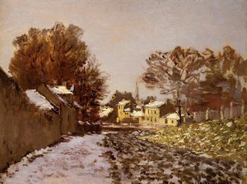 Claude Oscar Monet : Snow at Argenteuil