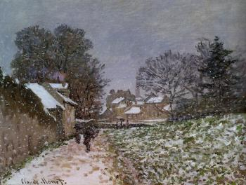 Claude Oscar Monet : Snow at Argenteuil II