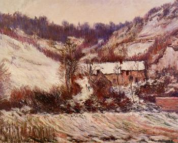 Claude Oscar Monet : Snow Effect at Falaise