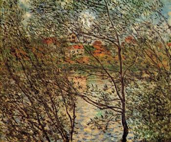Claude Oscar Monet : Springtime through the Branches