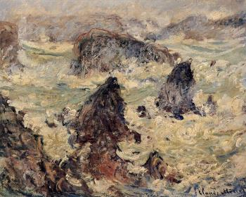 Claude Oscar Monet : Storm at Belle-Ile