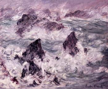 Claude Oscar Monet : Storm at Belle-Ile II