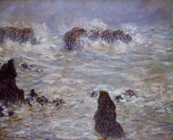 Claude Oscar Monet : Storm off the Belle-Ile Coast