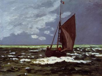 Claude Oscar Monet : Stormy Seascape
