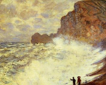 Claude Oscar Monet : Stormy Weather at Etretat
