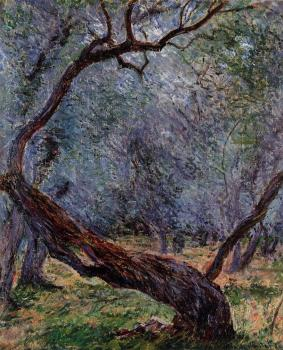 Claude Oscar Monet : Study of Olive Trees