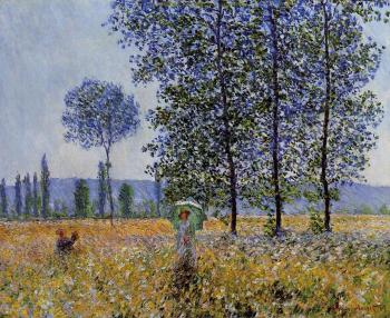 Claude Oscar Monet : Sunlight Effect under the Poplars