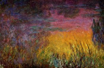 Claude Oscar Monet : Sunset, left half