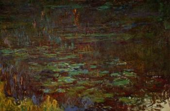 Claude Oscar Monet : Sunset, right half