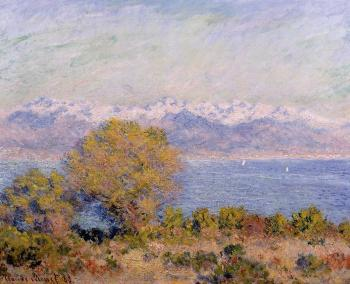 Claude Oscar Monet : The Alps Seen from Cap d'Antibes