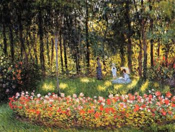 Claude Oscar Monet : The Artist's Family in the Garden