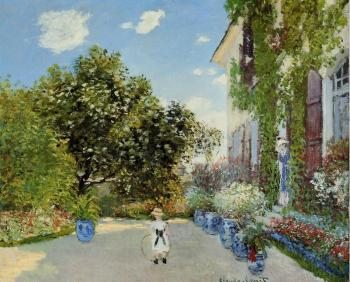Claude Oscar Monet : The Artist's House at Argenteuil