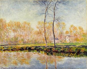 Claude Oscar Monet : The Banks of the River Epte at Giverny
