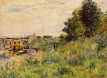 Claude Oscar Monet : The Banks of the Seine at the Argenteuil Bridge
