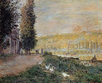 Claude Oscar Monet : The Banks of the Seine, Lavacour