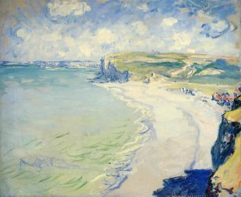 Claude Oscar Monet : The Beach at Pourville