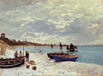 Claude Oscar Monet : The Beach at Sainte-Adresse II