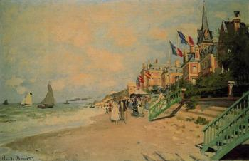 Claude Oscar Monet : The Beach at Trouville
