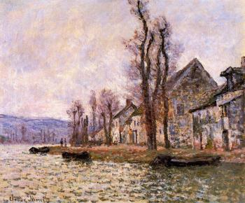Claude Oscar Monet : The Bend of the Seine at Lavacourt, Winter