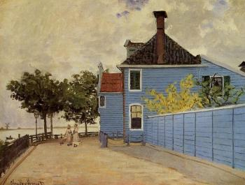 Claude Oscar Monet : The Blue House at Zaandam