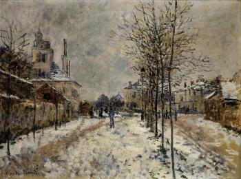 Claude Oscar Monet : The Boulevard de Pontoise at Argenteuil, Snow Effect