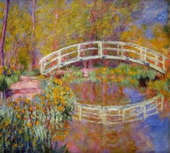 Claude Oscar Monet : The Bridge in Monet's Garden