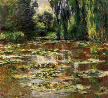 Claude Oscar Monet : The Bridge over the Water-Lily Pond II