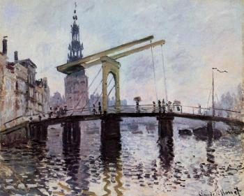 Claude Oscar Monet : The Bridge, Amsterdam