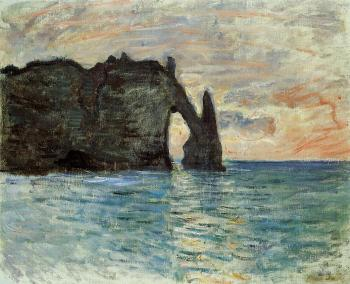 Claude Oscar Monet : The Cliff at Etretat