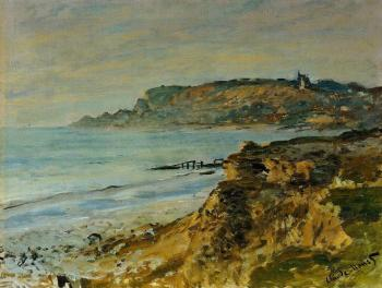Claude Oscar Monet : The Cliff at Sainte-Adresse