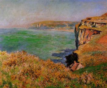 Claude Oscar Monet : The Cliff at Varengeville