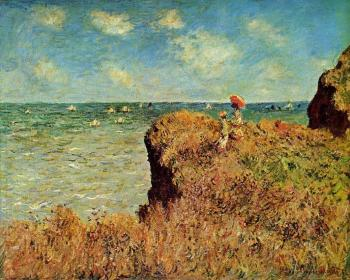 Claude Oscar Monet : The Cliff Walk, Pourville