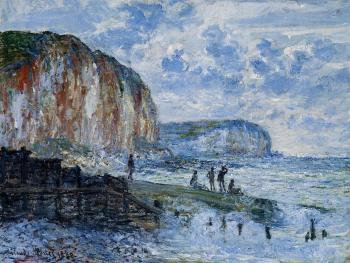 Claude Oscar Monet : The Cliffs of Les Petites-Dalles